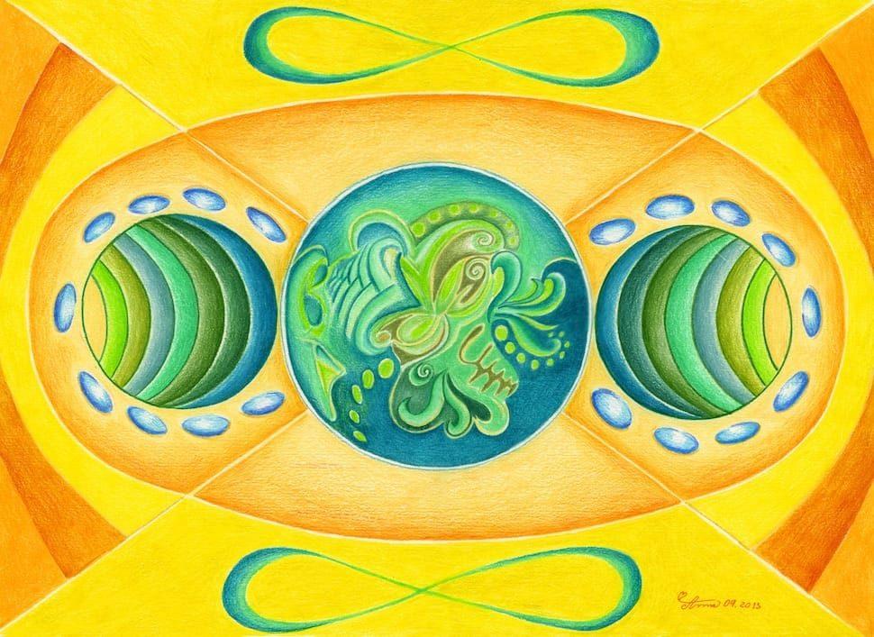 Plně otevřená první a druhá čakra planety Země