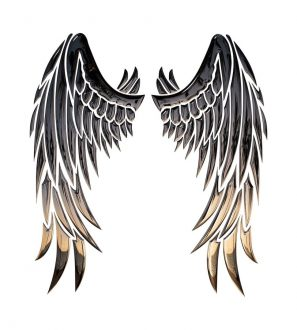 Vzor tetování: Andělská křídla