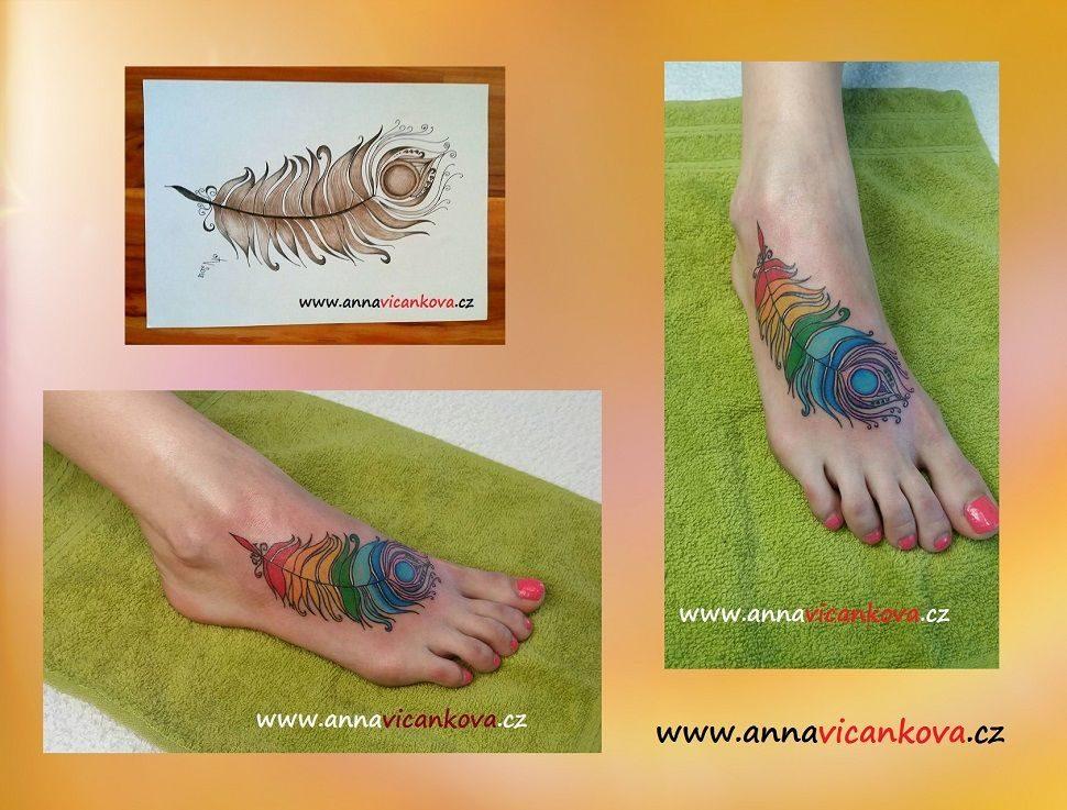 tetování peříčko