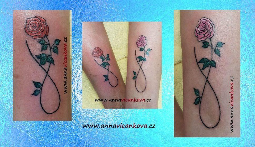tetování růží
