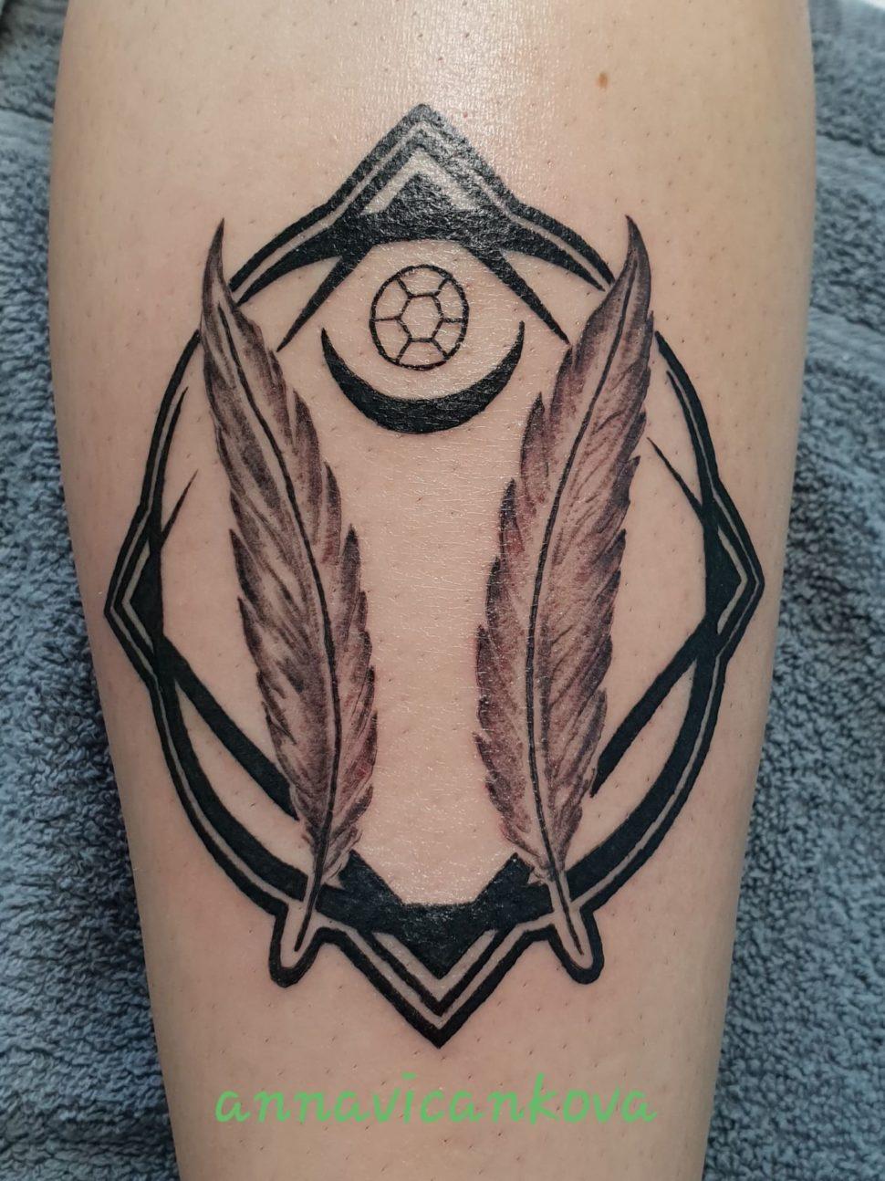 tetování silný zářič
