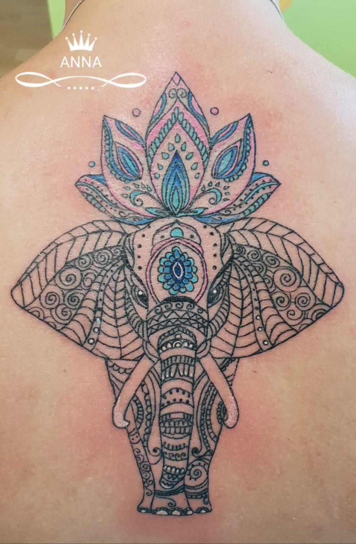 tetování slon