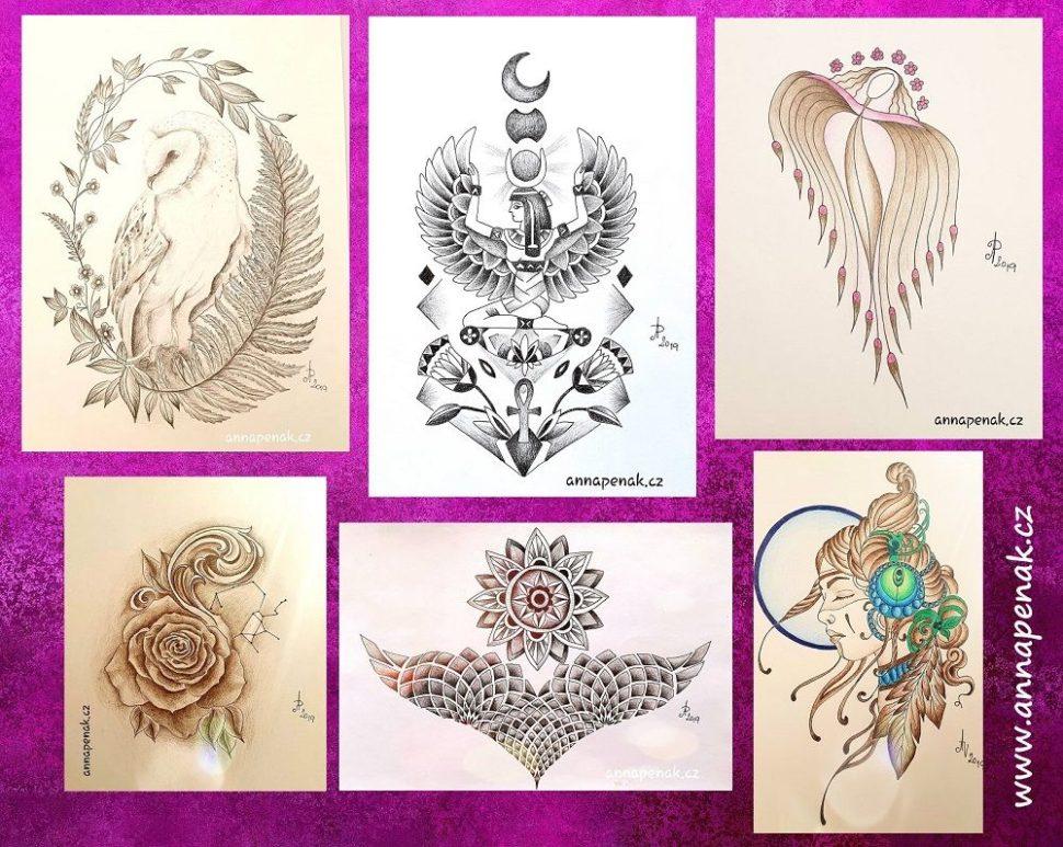 Osobní návrhy na tetování